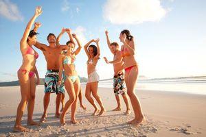 Фото бесплатно пляж, отдых, компания