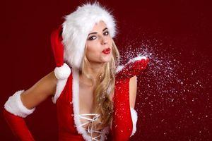 Фото бесплатно Новогодний костюм, красивый макияж, с новым годом
