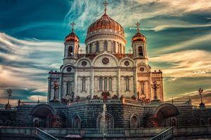 Бесплатные фото Храм христа спасителя,россия,москва