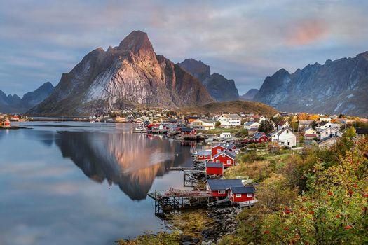 Заставки Reine, Norwegen, Lofoten