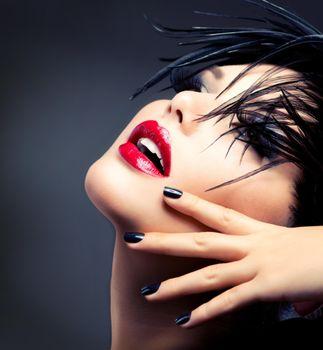 Photo free eyelashes, make-up, Anna Subbotina