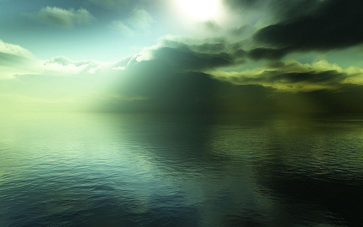 Фото бесплатно лучи, горизонт, море - на рабочий стол