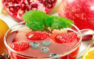 Заставки ягоды, клубника, черника, кружка, напиток