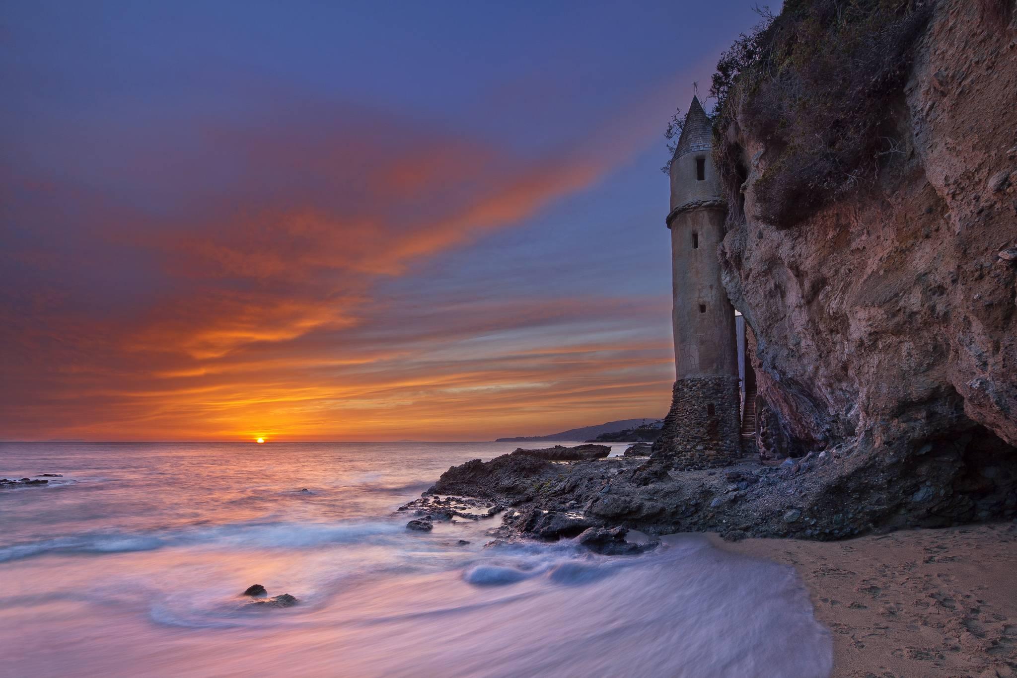 California, пляж Виктория, Laguna Beach