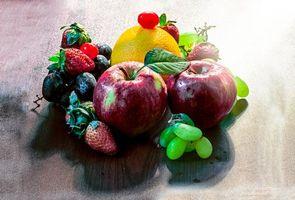 Фото бесплатно фрукты, ягоды, еда