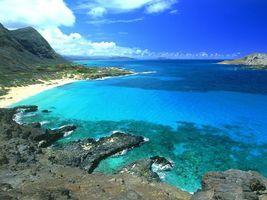 Фото бесплатно горы, бухта, море