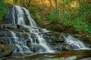 Фото бесплатно Национальный парк Грейт-Смоки, Laurel Falls, водопад