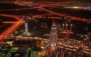Заставки ночь,дома,здания,небоскребы,дороги,фонари,огни