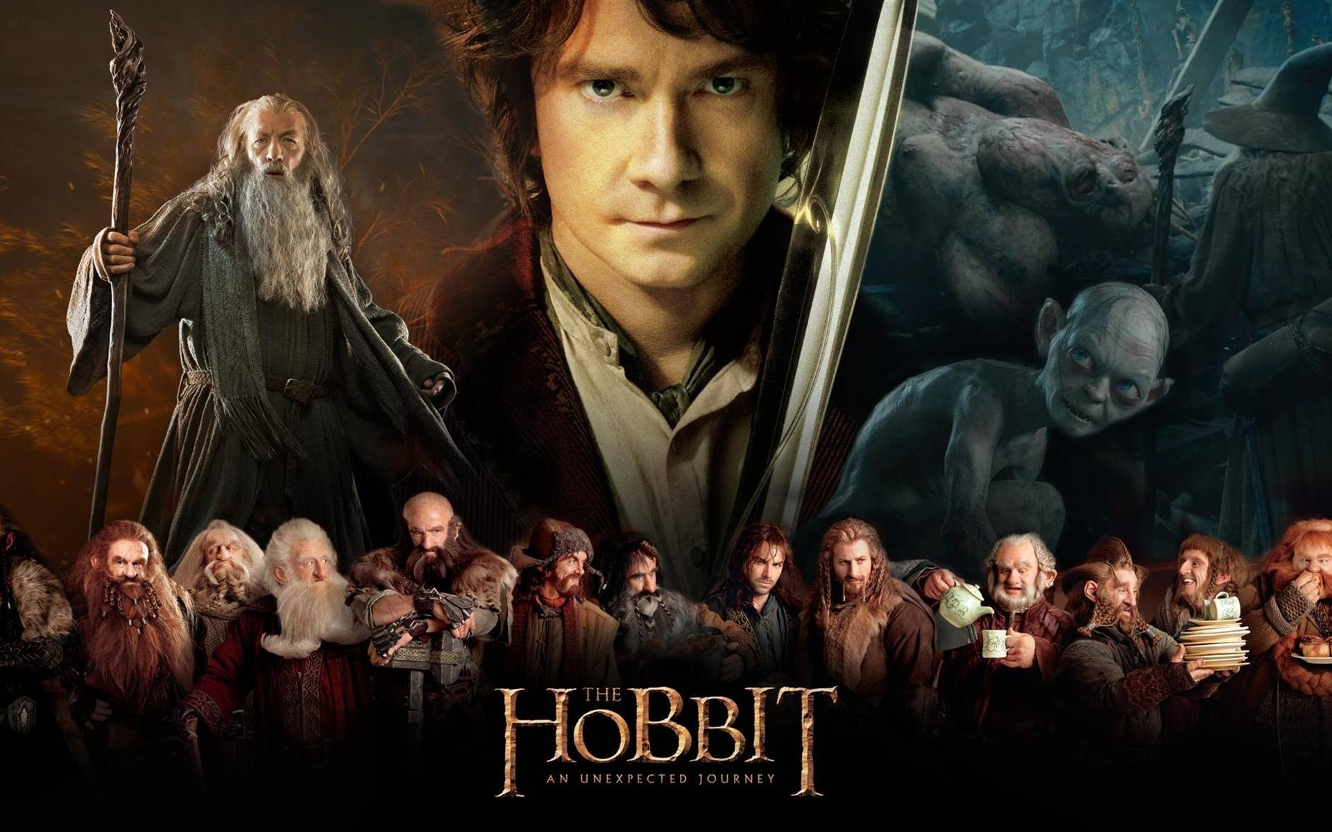 Directed by Peter Jackson With Martin Freeman Ian McKellen Richard Armitage Andy Serkis A reluctant Hobbit Bilbo Baggins sets out to the Lonely Mountain with a