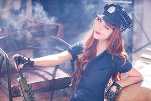 Бесплатные фото девушка, красотка, оружие, стиль, азиатка