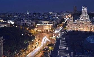 Бесплатные фото Madrid, Spain, Мадрид, Испания, город, ночь, огни