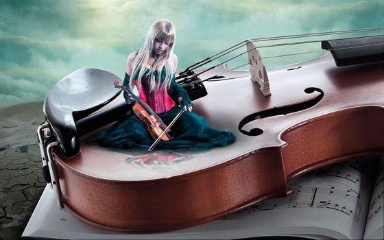 Заставки скрипка, девушка скрипачка, art