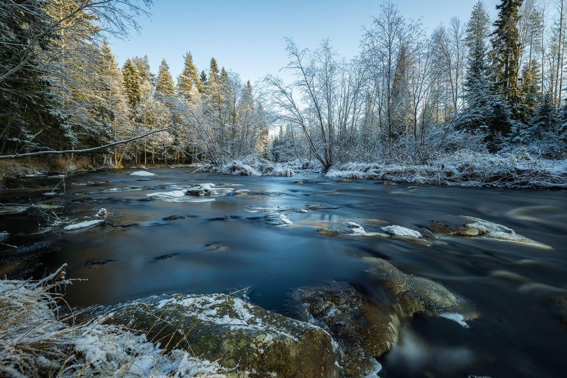 На телефон пейзаж, зима качественные обои