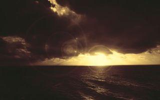Бесплатные фото море,волны,горизонт,небо,солнце,тучи