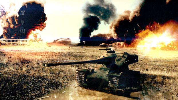 Бесплатные фото танк,башня,пушка,пулемет,броня,гусеницы,взрывы,дым