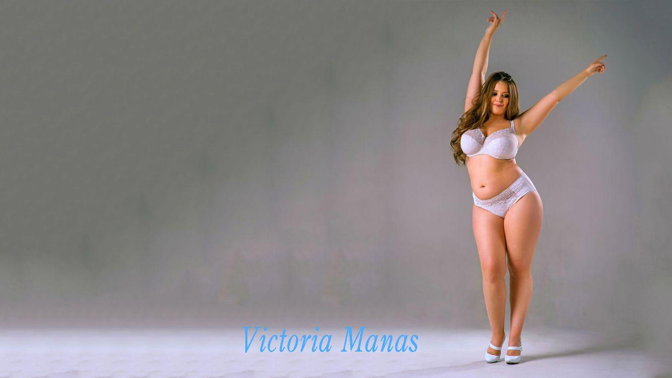 Фото бесплатно Виктория Манас, толстушка, нижнее белье - на рабочий стол