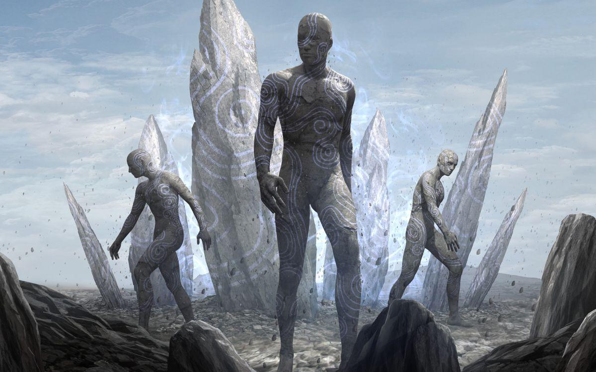Фото бесплатно киборги, камни, пришельцы, фантастика