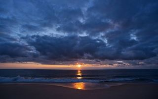 Фото бесплатно вечер, облака, горизонт