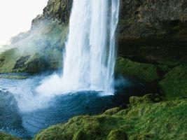 Фото бесплатно водопад, скала, ущелье