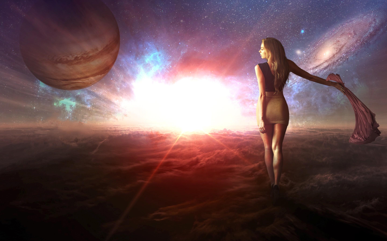 русалка в небе видны планеты картинки масло доведите
