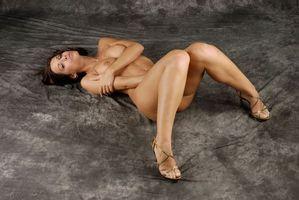 Бесплатные фото Satin Bloom, Lucie B, девушка, модель, красотка, голая, голая девушка
