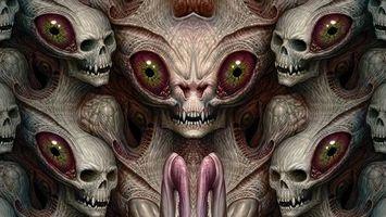 Бесплатные фото монстр,черепа,3d,art