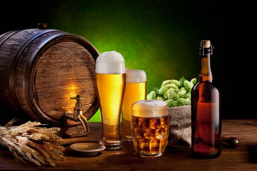 Photo free malt, beer, barrel