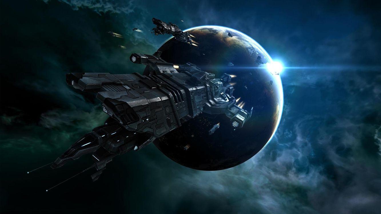 Фото бесплатно космический корабль, полет, космос - на рабочий стол