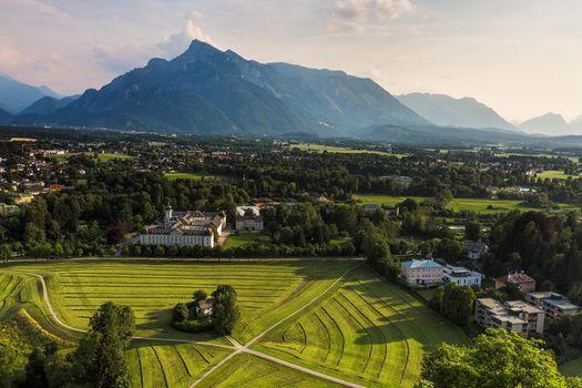 Фото бесплатно Вид австрийских Альп, Зальцбург