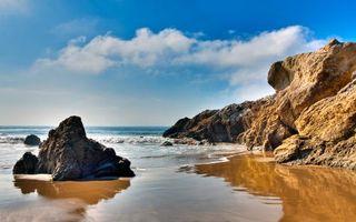 Бесплатные фото море, пляж, скалы, волны