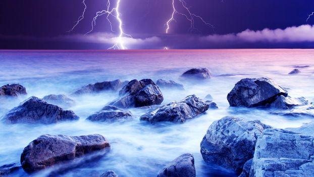 Фото бесплатно океан, берег, валуны