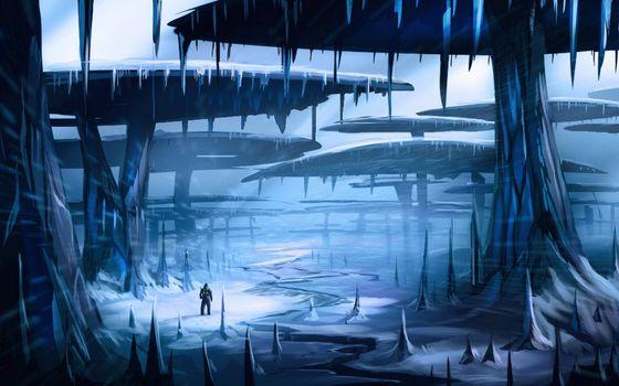 Бесплатные фото зима,человек,деревья грибы,сталагмиты