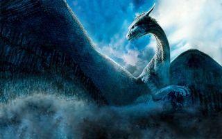 Фото бесплатно дракон, крылья, чешуя, морда, рога, лапы