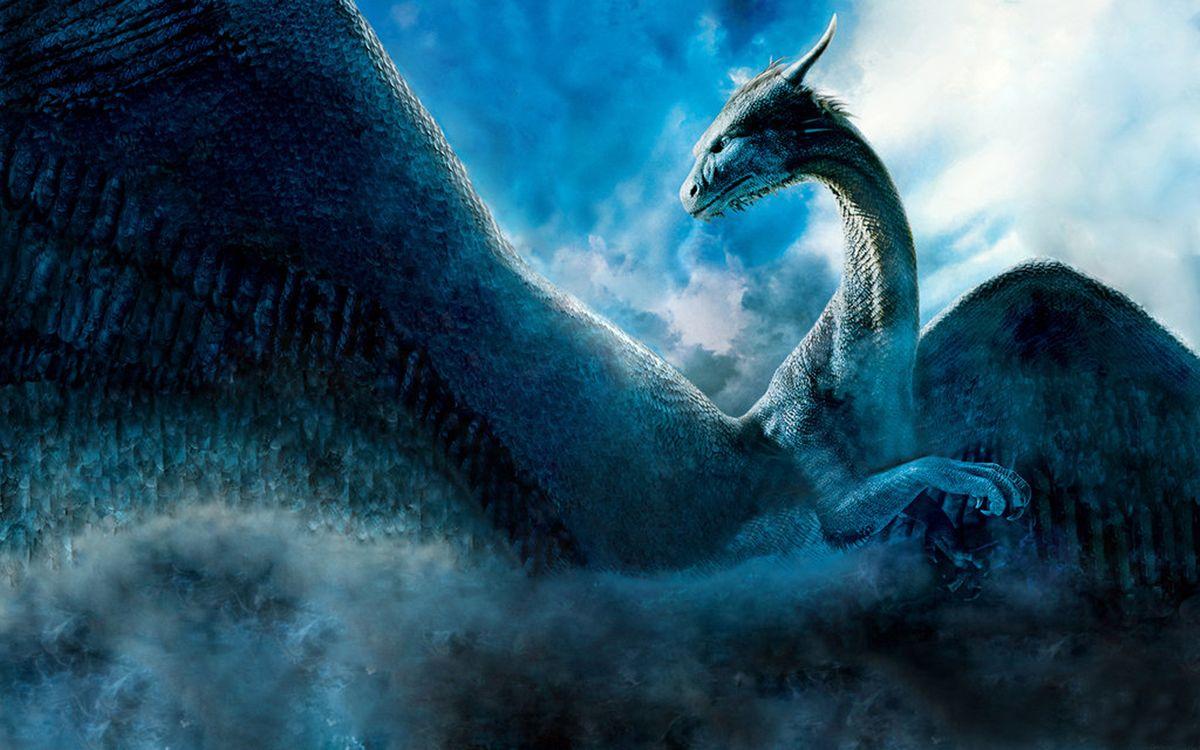 Фото бесплатно дракон, крылья, чешуя, морда, рога, лапы, фантастика