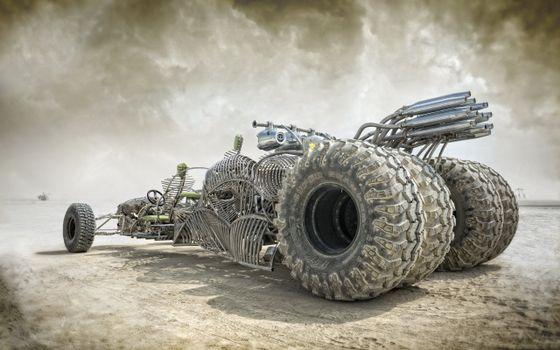 Фото бесплатно Mad Max - Fury Road, боевая машина, скелет машины