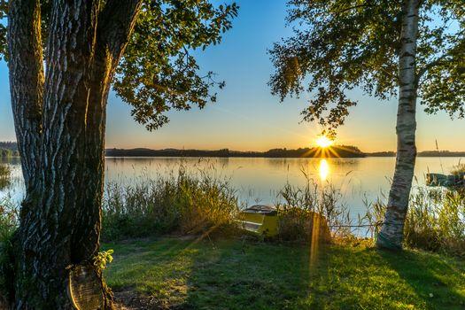 Фото бесплатно озеро, пейзаж, лодка