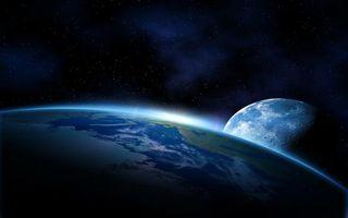 Фото бесплатно планета, Земля, спутник, Луна