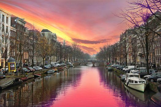 Фото бесплатно Голландия, панорама, столица и крупнейший город Нидерландов