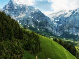 Фото бесплатно Гриндельвальд, Швейцария, горы