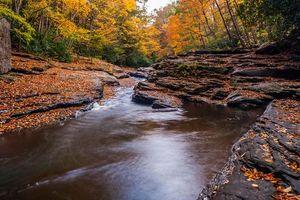Заставки осень, река, скалы