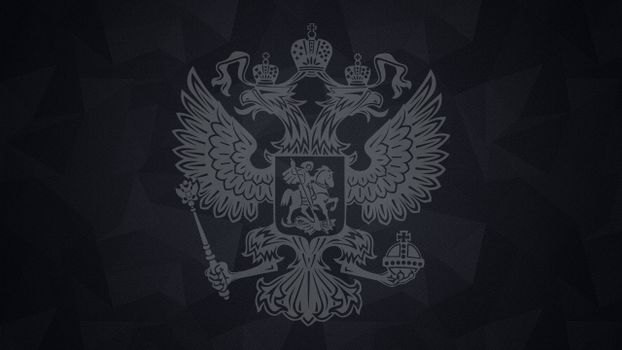 Photo free coat of arms of Russia, two-headed eagle, wings