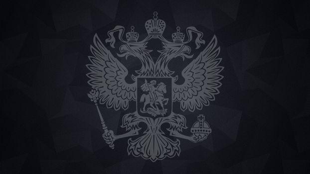 Заставки герб России, двуглавый орел, крылья