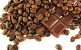 Заставки шоколад, плитка, сладость, кофе, зерна