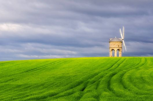 Фото бесплатно Честертон ветряная мельница, Уорикшир, Великобритания, Chesterton Windmill, Warwickshire, UK, поле, мельница, пейзаж