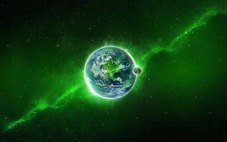 Photo free planet, satellite, milky way