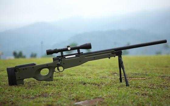 Photo free sniper rifle, sight, optics