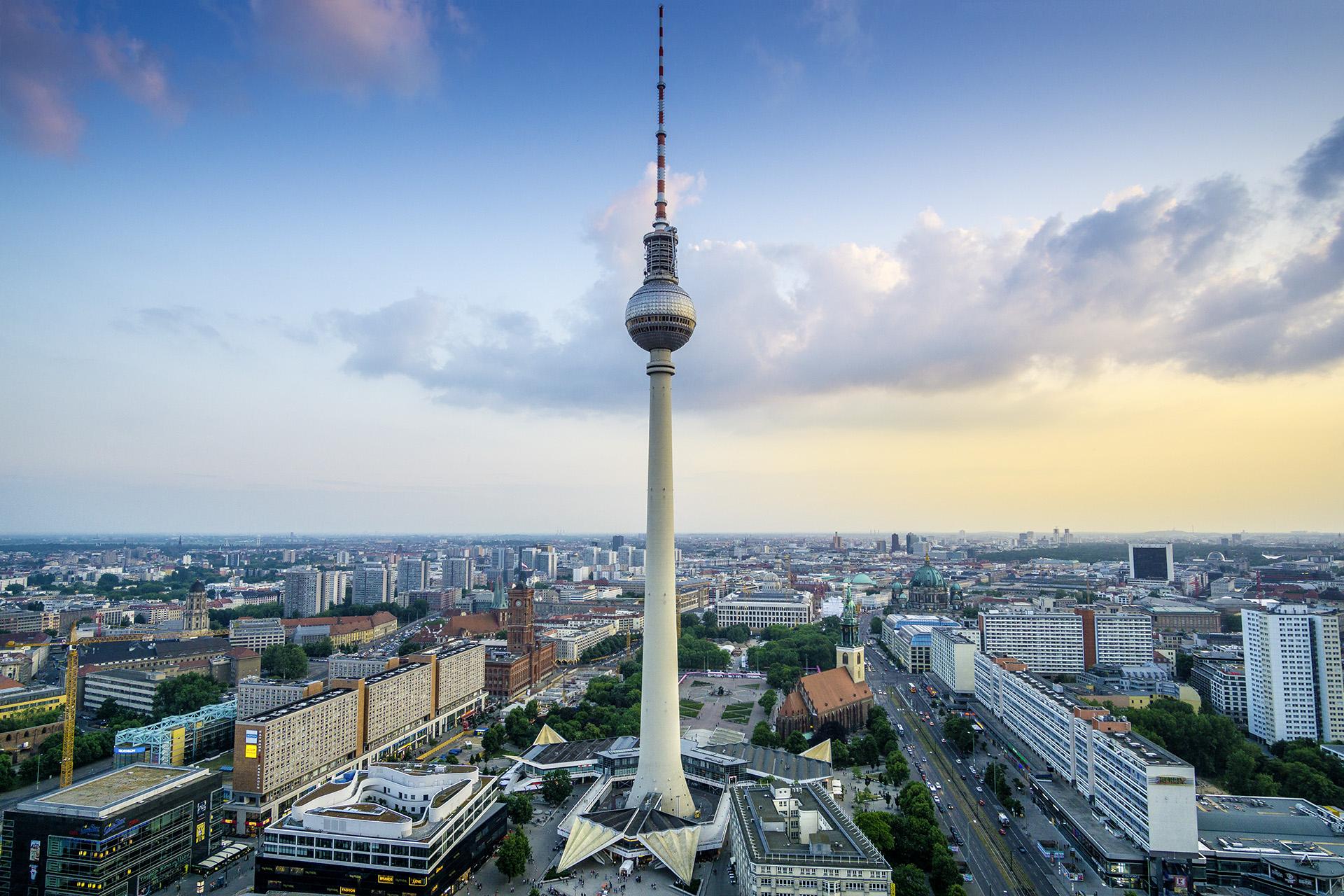 Berlin, Alexanderplatz, город