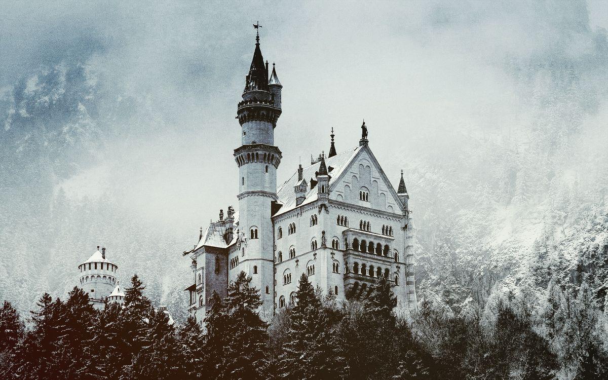 Фото бесплатно снег, деревья, башня - на рабочий стол