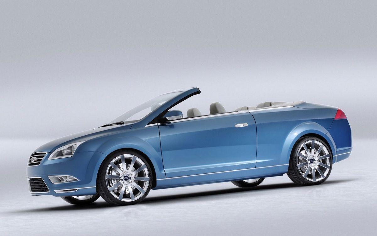 Фото бесплатно форд, кабриолет, синий, фары, диски, зеркала, машины