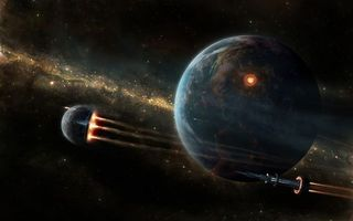 Photo free space, planet, space ships